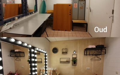 Artiestenkleedkamer heeft een make-over gekregen