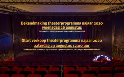 Verkoop programma najaar 2020 start op 29 augustus